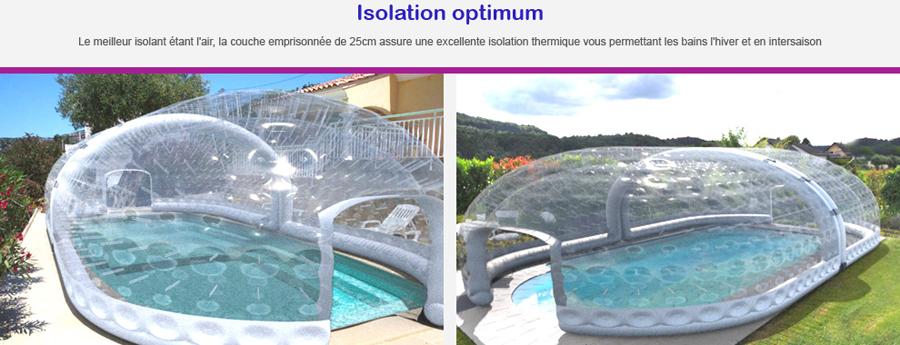 image abris gonflables piscine en régulation